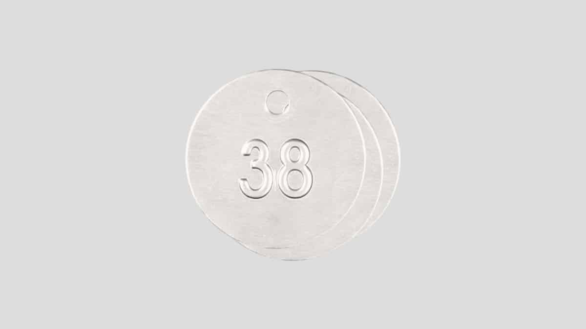 Aluminium Rund Nummerbricka