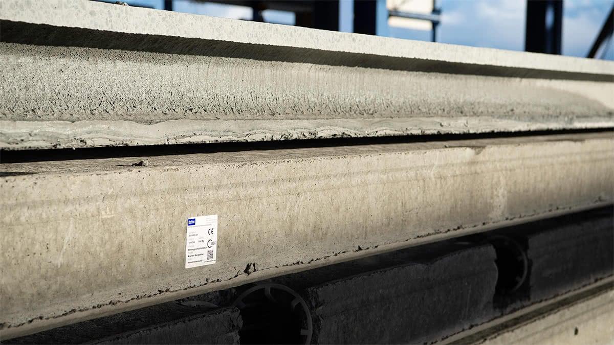 Klisteretiketter för märkning av prefab betongelement