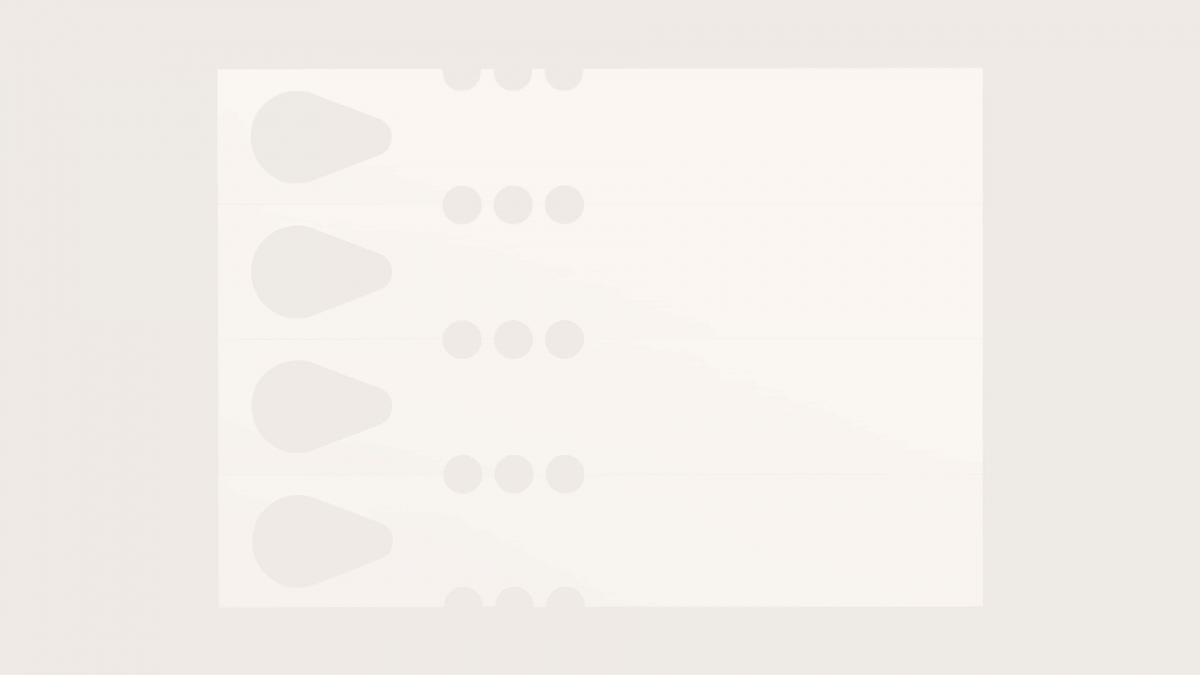 Laserplas Knytetikett Droppe-Variant