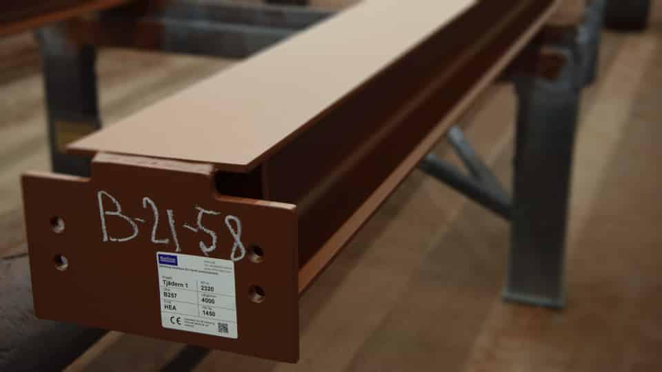 Märka Konstruktionsstål Balk Etikett