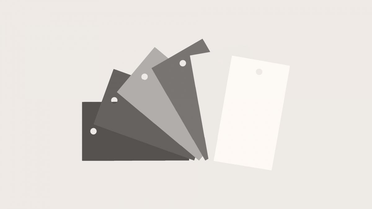 Märkbricka Stål Enfärg Med Hål 100x55 mm