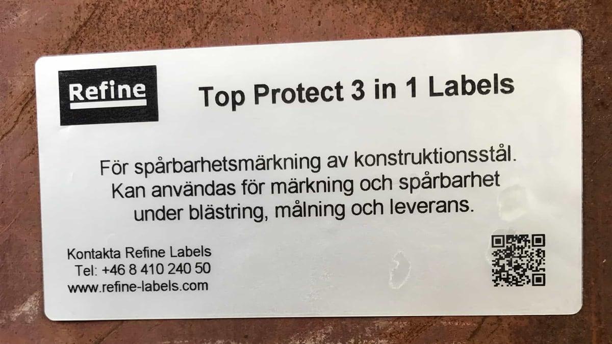 Märkning konstruktionsstål blästring målning