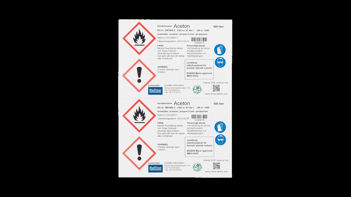 Polyolefin Etiketter för OKI C650